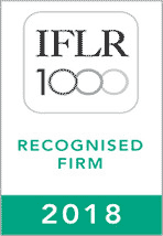 ILFR 1000 Recognised Firm 2018