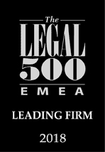 Legal 500 EMEA Law Leading Firm 2018