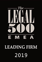 Recommended by Legal 500 EMEA 2019