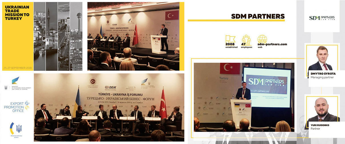SDM Partners is a delegate of the Ukrainian Trade Mission to Turkey